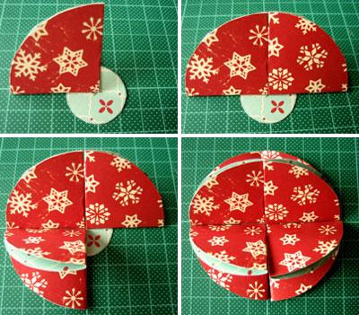 Addobbi natalizi fai da te: trasformare biglietti d'auguri in palline per l'albero 4
