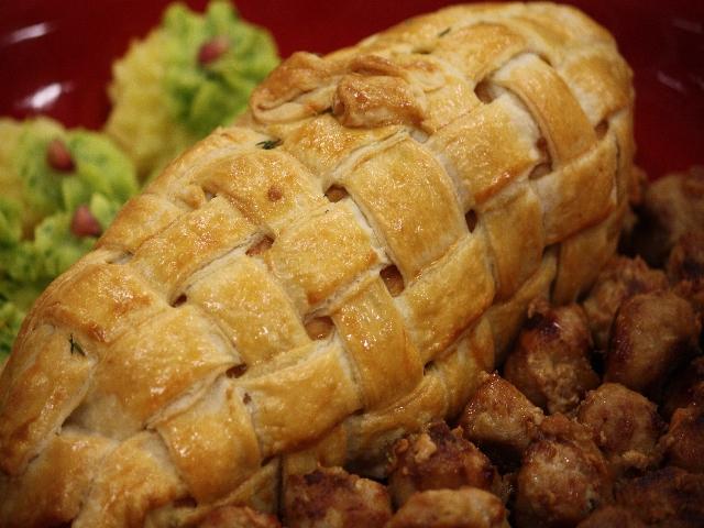 arrosto di vitello in crosta di pane