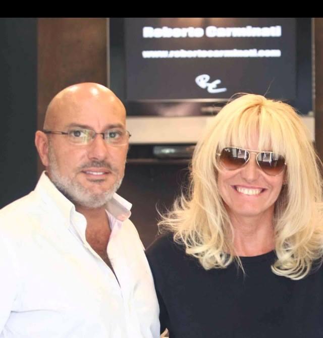 Roberto Carminati e Antonella Clerici