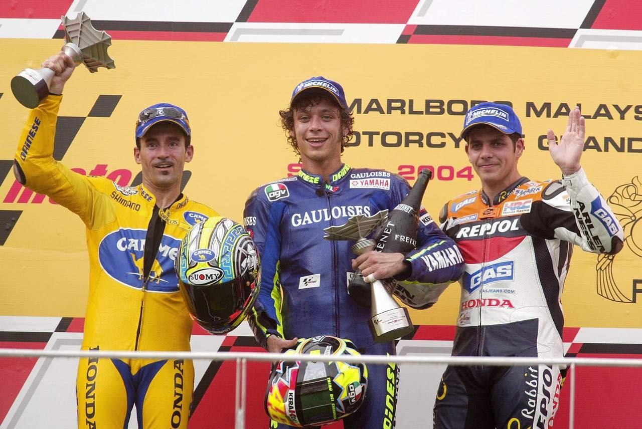 MotoGP riders Valentino Rossi of Italy (
