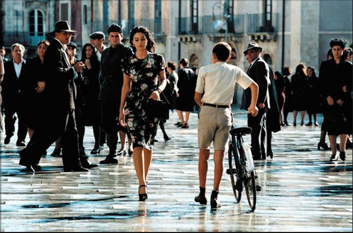 """Monica Bellucci in una scena del film  """"Malena"""", girato a Siracusa"""