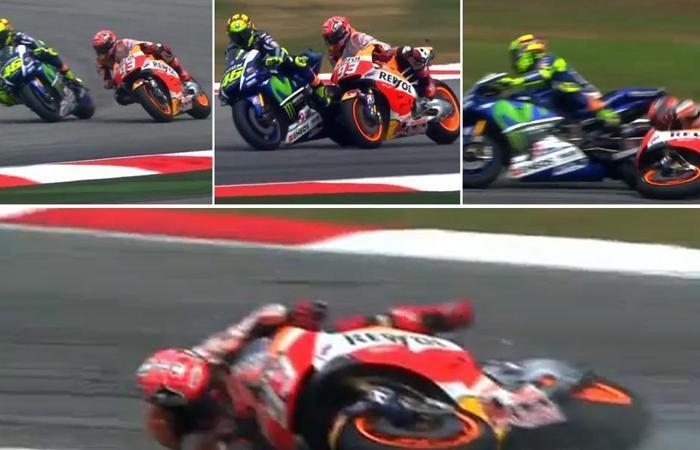 GP Malesia 2015 - incidente Rossi-Marquez