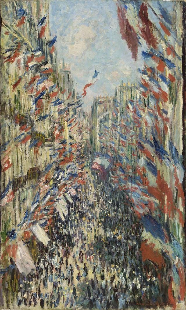 Monet - Rue Montorgueil a Parigi (1878)