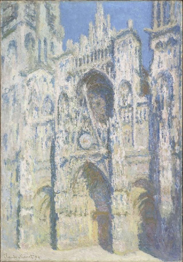 Monet - La cattedrale di Rouen. Il portale e la torre Saint-Romain in pieno sole (1893)