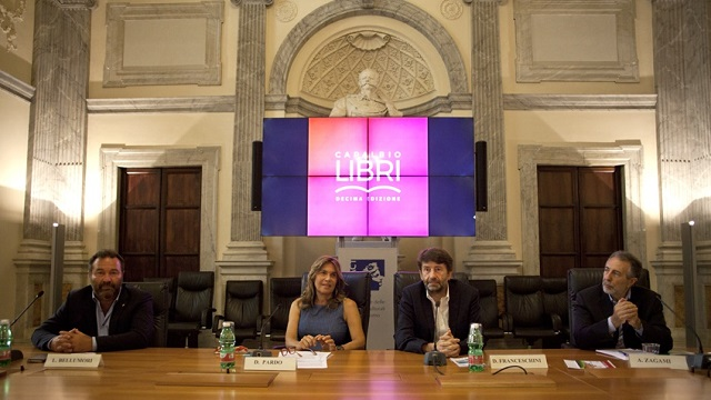 Capalbio libri (presentazione) -da sx Bellumori, Pardo, Franceschini, Zagami