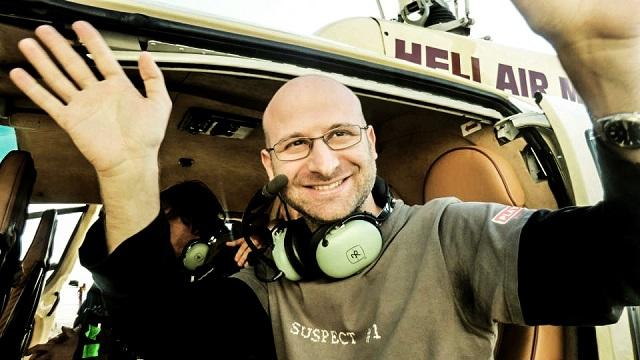 Lorenzo Corvino Il regista entusiasta delle riprese dall'elicottero