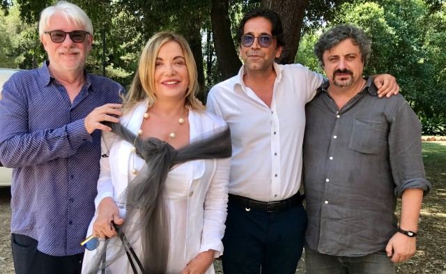 Simona Izzo Ricky Tognazzi un caffè con festival della commedia italiana