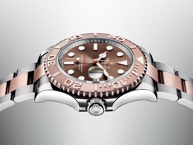 rolex- oyster perpetual -yacht-master-cinturino-acciaio-oro-rosa