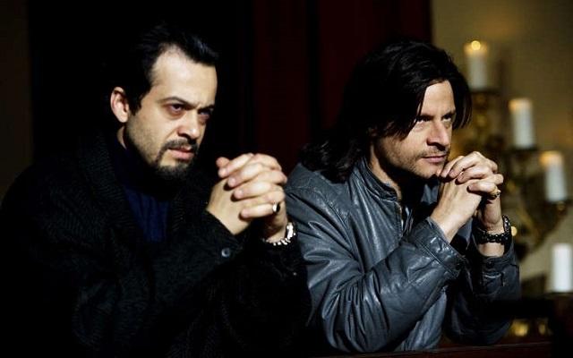 """Andrea Sartoretti """"Er Bufalo"""" con Mauro Meconi (Fierolocchio) in una scena di Romanzo Criminale 2"""
