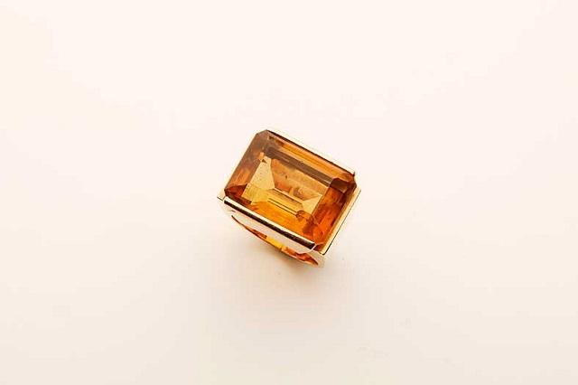 Gioielli vintage: Anello decò in oro rosa