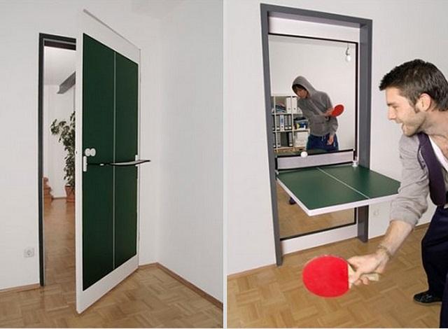 Ping Pong door: da porta a tavolo da Ping Pong
