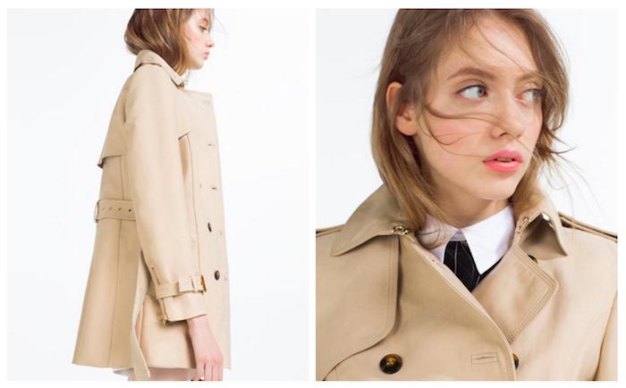 Trench Zara, collezione donna primavera-estate 2016 79,95 EUR
