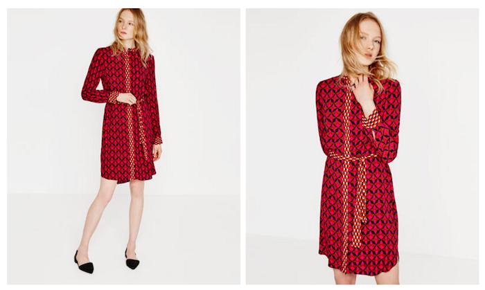 Vestito dal motivo geometrico, Zara collezione primavera-estate 2016