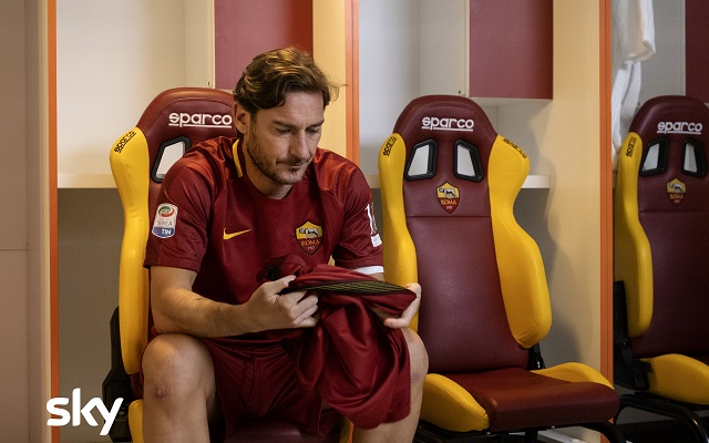 Francesco Totti nel gran finale di