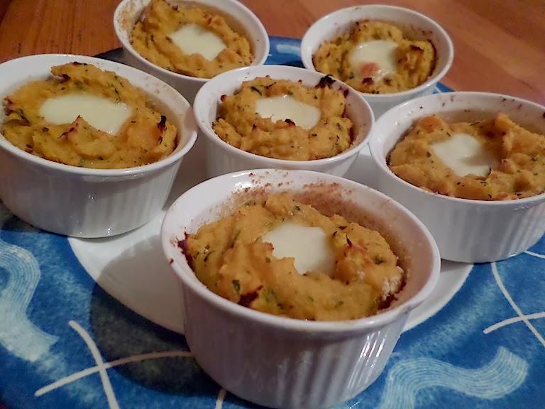 Zucca a sorpresa - in cocotte con gorgonzola e noci