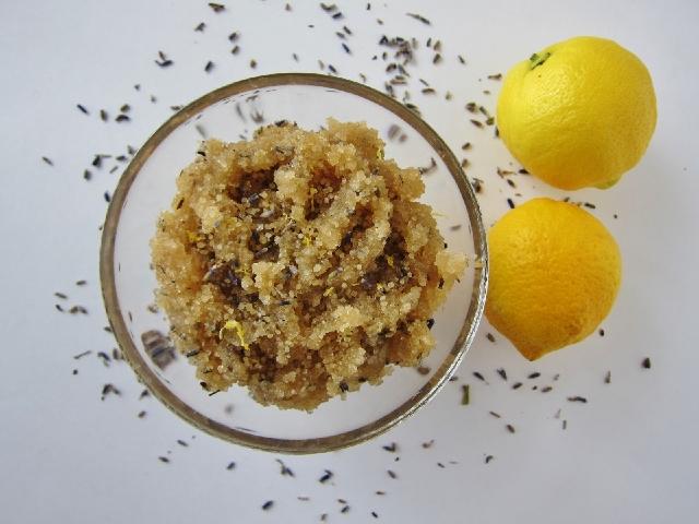 scrub zucchero di canna e limone