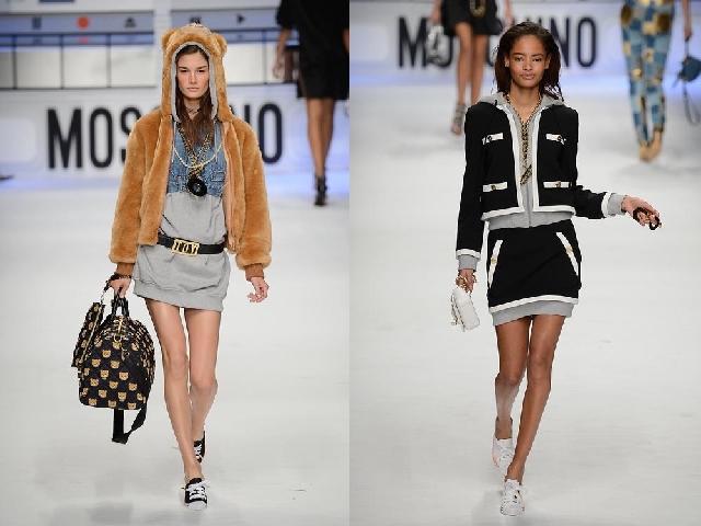 MFW 2015 orsetto, denim e tailleur chanel di Moschino