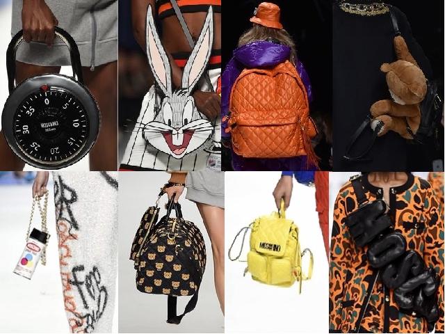 MFW Donna Autunno Inerno 2015-16 borse di Moschino