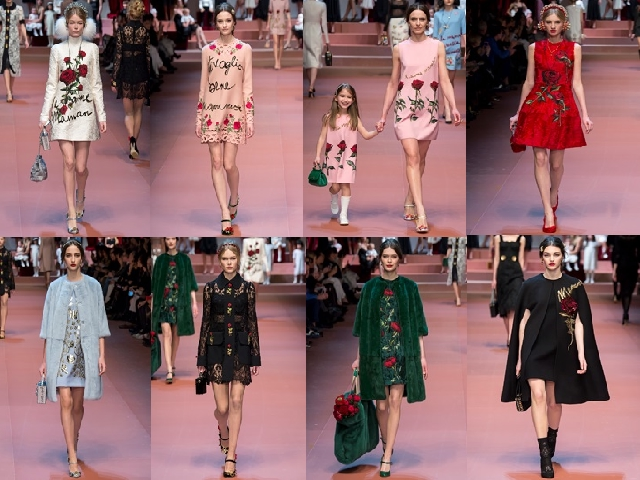 MFW 2015 D&G AI 2015-16 minidress
