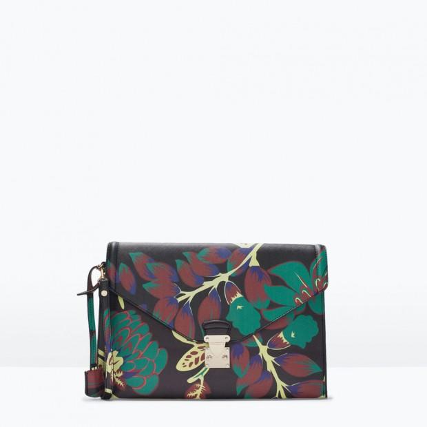 Pochette stampa floreale. Collezione Primavera/Estate 2015 Zara