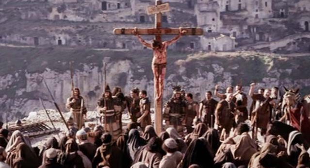 """Scena tratta dal film """"La passione di Cristo"""" di Mel Gibson, girato a Matera"""