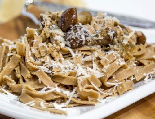 Primi piatti autunnali: Tagliatelle di castagne ai funghi porcini