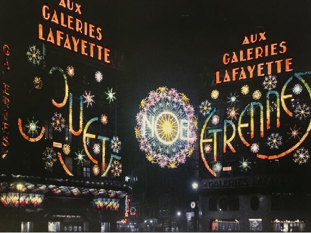 LÉON GIMPEL: LLuminarie delle Galeries Lafayette, Parigi, 1 Dicembre 1933