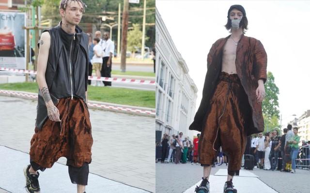 Milano moda uomo 2019: il fashion mob dello stilista Andrea Grosso