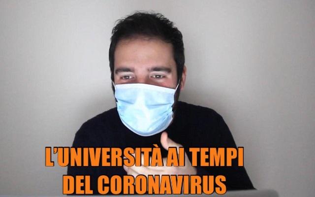 Filippo Caccamo con ironia racconta l'università ai tempi del coronavirus