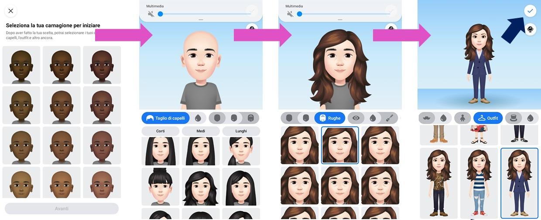 Come creare il proprio Avatar personalizzato su Facebook