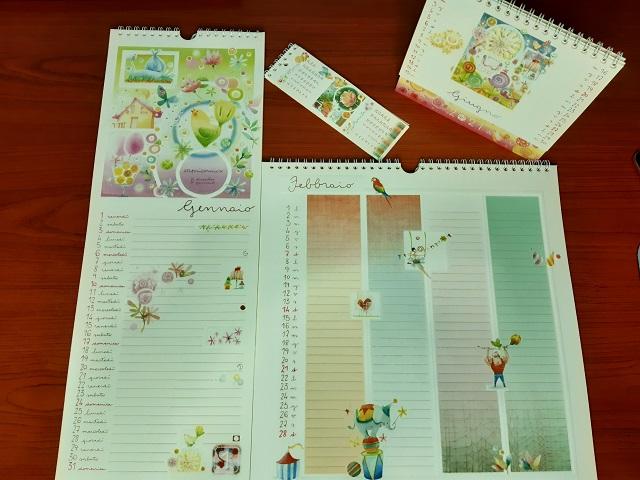 Goccioline di acquerello calendari