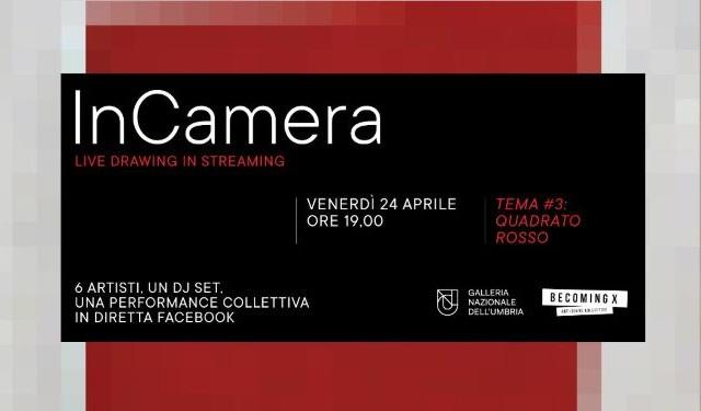 InCamera il live drawing ideato da Galleria Nazionale dell'Umbria