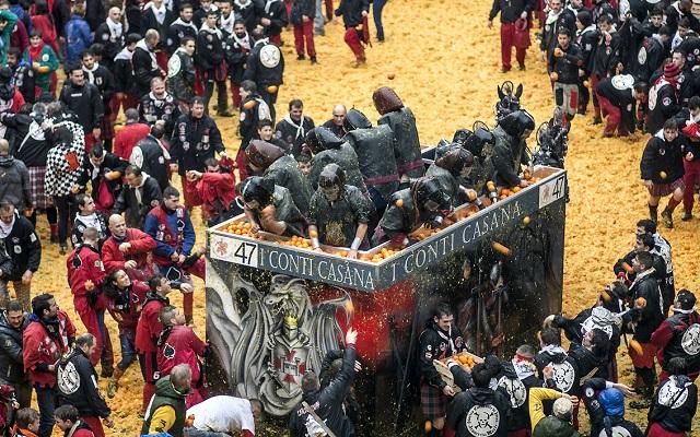 Storico Carnevale di Ivrea omaggio speciale nello sci-fi