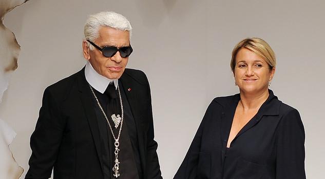 Karl Lagerfeld e Silvia Venturini Fendi