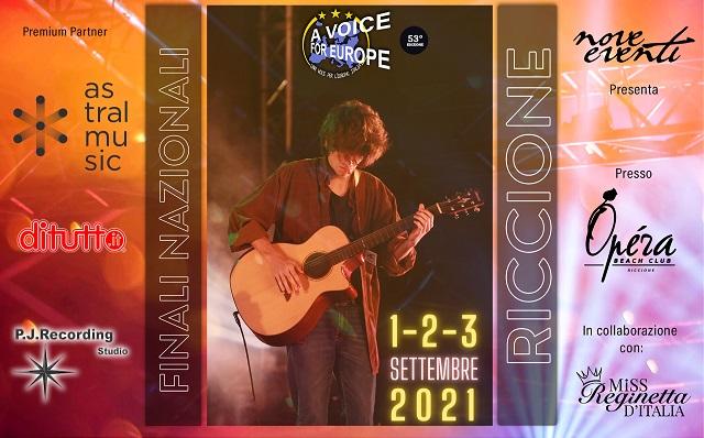 Una voce per l'Europa, Italia: dall'1 al 3 settembre le finali a Riccione