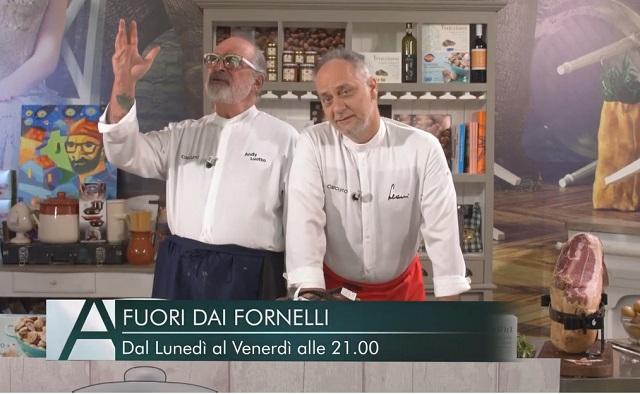 Fuori dai Fornelli: il nuovo format con lo chef stellato Leoni e Andy Luotto