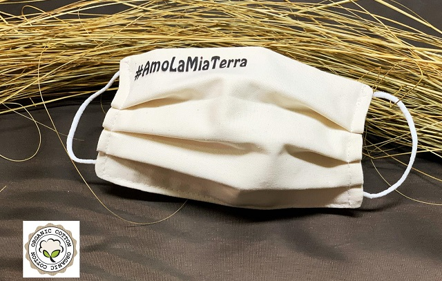 Mascherine sustainable fashion: #Amolamiaterra di Lisa Tibaldi Terra Mia