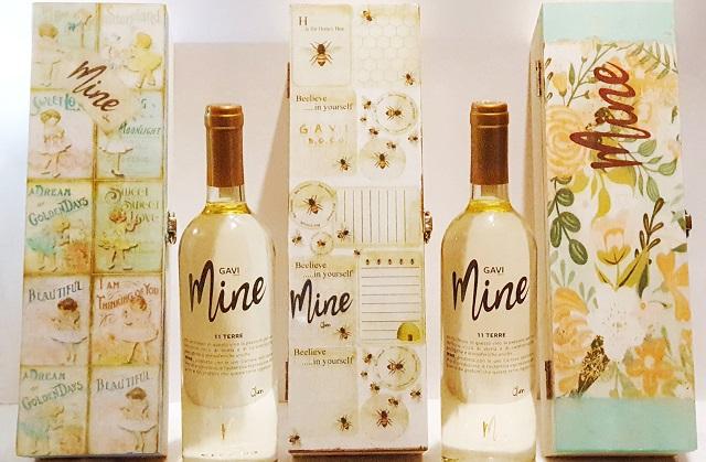 Mine Wine Xmas Edition cofanetti in legno fatti a mano
