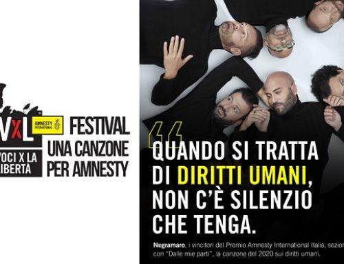 Negramaro vincono Premio Amnesty per la miglior canzone sui diritti umani