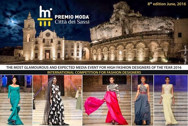 """Premio Moda """"Città dei sassi"""" - Matera 28 giugno 2016"""