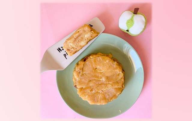 Torta di pane e mele ricetta rosa delle merende colorate di Lollo Cake