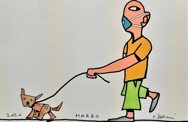 Carlo Bacci l'arte ai tempi del Coronavirus (#lartenonsiferma)