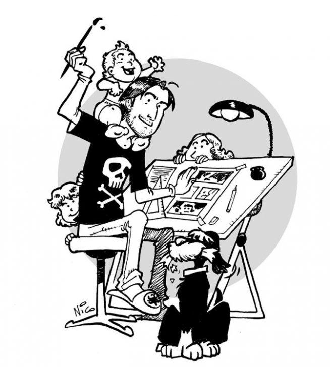 Matteo Bussola: papà e disegnatore per amore, scrittore per caso