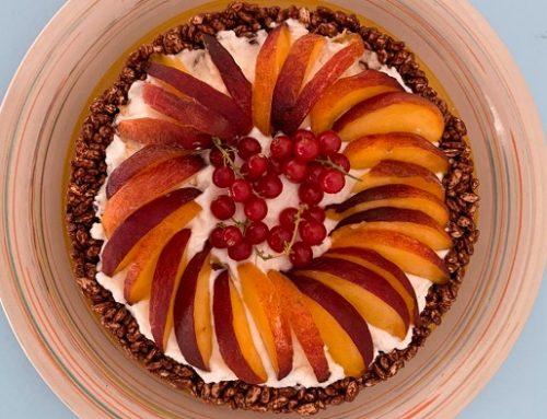 Le merende colorate di Lollo Cake: Torta fredda alla ricotta (ricetta blu)