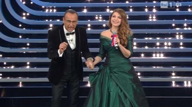 Sanremo 2016: Carlo Conti e Cristina D'Avena