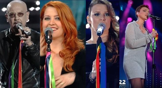 #SanremoArcobaleno: Ruggeri, Noemi, Fornaciari, Arisa