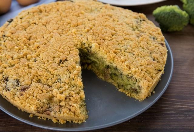 ricetta della Sbriciolata salsiccia e broccoli