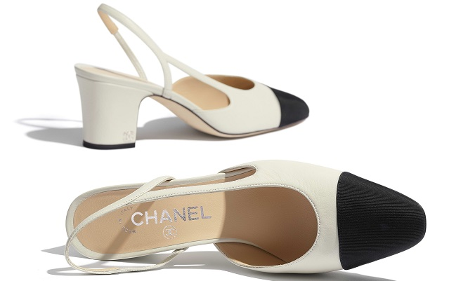 Slingback l'iconica scarpa bicolore ideata da Coco Chanel