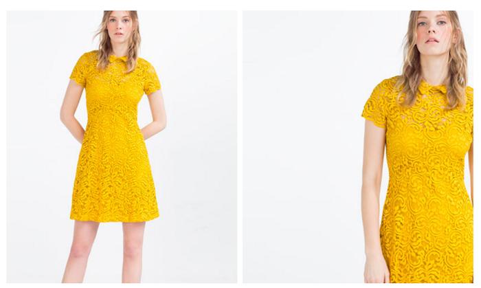 Vestito in merletto Zara, primavera-estate 2016